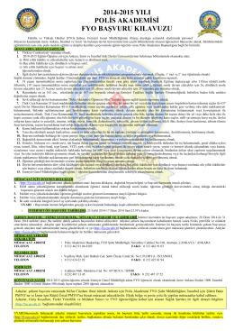 2014-2015 yılı polis akademisi fyo başvuru kılavuzu