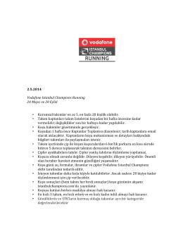 2.5.2014 Vodafone Istanbul Cham
