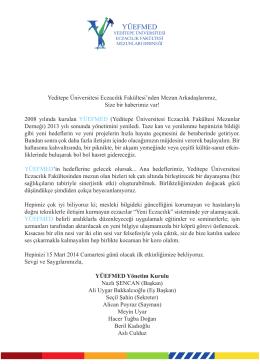 haberimiz var! - Yeditepe Üniversitesi