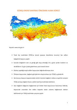 GES Önlisans Alma Süreci