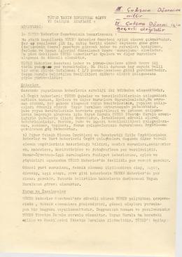 Tüted 3.Dönem Yayın Komisyonu Esasları