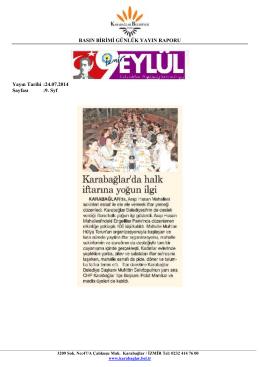 24.07.2014 - Karabağlar Belediyesi
