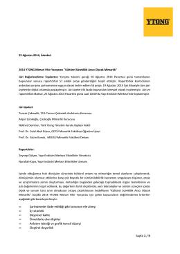 Sayfa 1 / 5 • Şartnamede ifade edildiği gibi konunun ele alınışı • İç