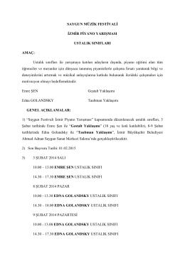 Ustalık Sınıfları - İzmir Büyükşehir Belediyesi