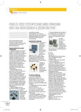 panelex, rose systemtechnık gmbh firmasının dört