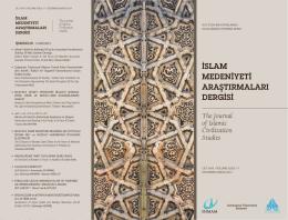 islam medeniyeti araştırmaları dergisi