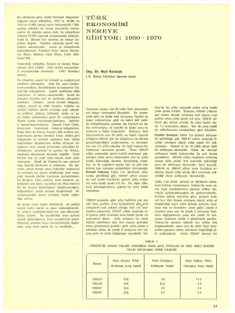 TÜRK EKONOMİSİ NEREYE GİDİYOR: 1950-1970