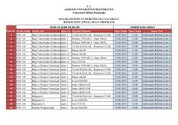 T. C. AKDENİZ ÜNİVERSİTESİ REKTÖRLÜĞÜ Enformatik Bölüm