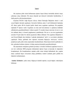 Sosyal Bilgiler Öğretiminde Çoklu Ortam Kullanımı.