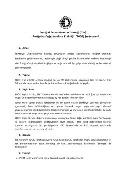 PODE Şartnamesi (pdf)