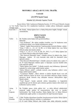 sağlık tüzüğü17.10.14 - Bayındırlık ve Ulaştırma Bakanlığı