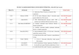 Proje Listesi 2. Öğretim