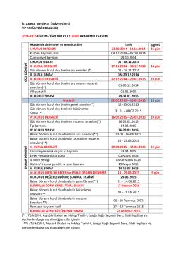 istanbul medipol üniversitesi tıp fakültesi dekanlığı 2014