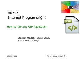 Internet Programcılığı I Hafta_II