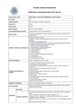parenteral uygulamalar - Medipol Üniversitesi