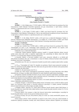 2014.07.22 Sera Gazı Emisyonlarının İzlenmesi ve