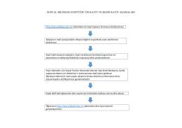 sosyal bilimler enstitüsü ön kayıt ve kesin kayıt aşamaları