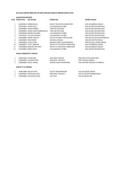 tek ders güz dönemi listesi