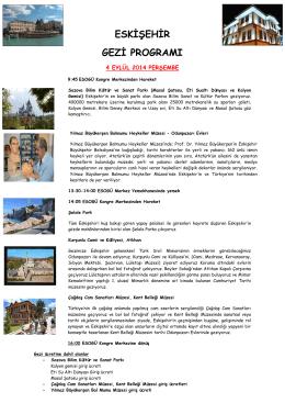 eskişehir gezi programı