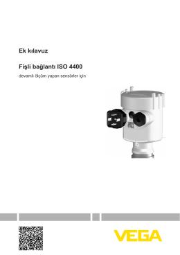 Fişli bağlantı ISO 4400 - devamlı ölçüm yapan sensörler için