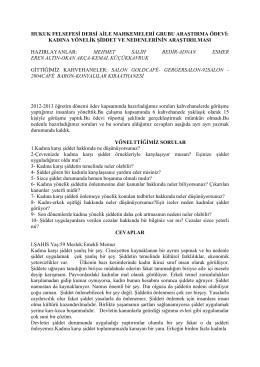 Kahvehane Söyleşileri – Erkek Gözüyle Şiddet (PDF) - Ev