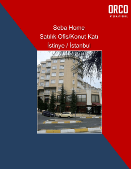 Seba Home Satılık Ofis/Konut Katı İstinye / İstanbul