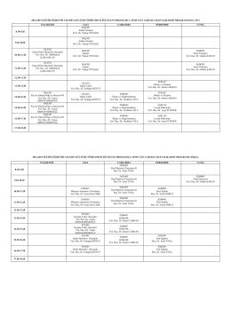 İslami İlimler Fakültesi 2014-2015 Eğitim ve Öğretim Yılı İDKAB 3
