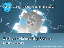 Elektronik Mühendisliği Bölümü Tanıtım Sunumu (pdf)