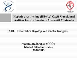 HBeAg ve Faj Display - İstanbul Bilim Üniversitesi