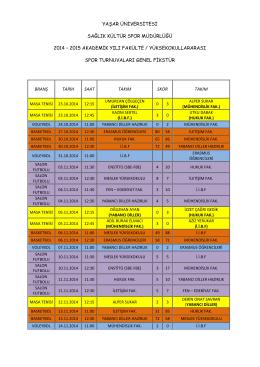 27.11.2014 spor tur. genel fikstür