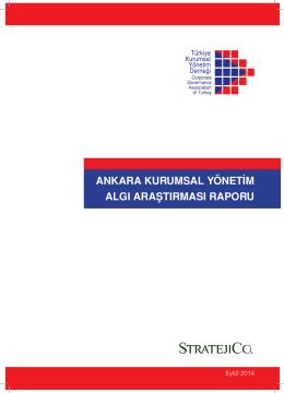 Ankara Kurumsal Yönetim Algı Araştırması Raporu - TKYD