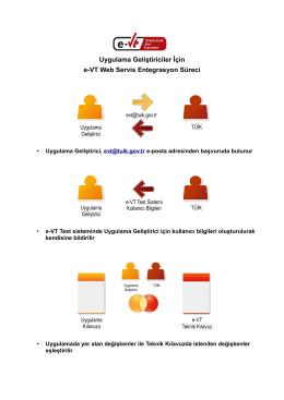 Uygulama Geliştiriciler İçin e-VT Web Servis Entegrasyon Süreci