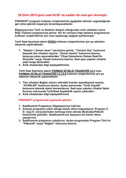PDKSSOFT Saatleri Geri Alma (PDF)