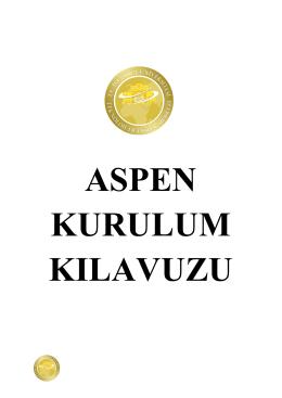 ASPEN Yükleme Kılavuzu