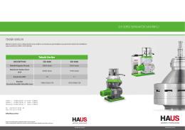 sdı serisi separatör santrifüj teknik veriler