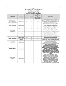 T.C. BURSA TEKNİK ÜNİVERSİTESİ Fen Bilimleri Enstitüsü 2013
