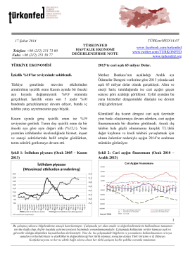 Haftalık Ekonomi Değerlendirme Raporu