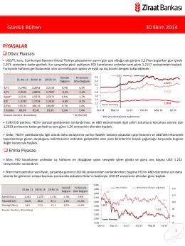 30 Ekim 2014 tarihli piyasa yorumu