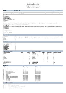 BIP207 Veri Tabanı - II - Gümüşhane Meslek Yüksekokulu