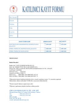 Kayıt Formu (pdf)