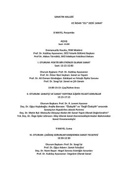 DEÜ Sanatın Halleri Etkinlik Programı (PDF)