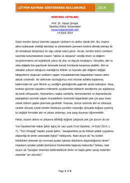 Kontrol Ustaları - hasansimsek.net