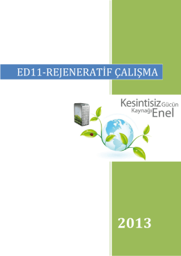 ed11-rejeneratif çalışma - Enel Enerji Elektronik