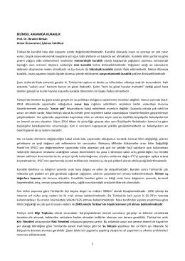 BILIMSEL ANLAMDA KURAKLIK - Atılım Üniversitesi Açık Erişim
