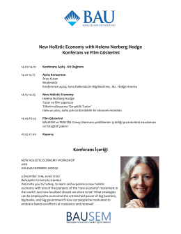 New Holistic Economy with Helena Norberg Hodge
