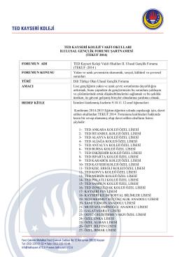 TEKUF 2014 - konya il millî eğitim müdürlüğü