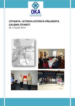 Litvanya-Letonya-Estonya-Finlandiya Ziyareti Görev Dönüş Raporu