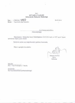 28.05.2014 tarih ve 450 sayılı yazı