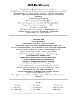 SOA Manifestosu
