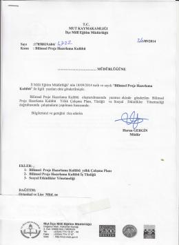Harun ĞrnciN - mut ilçe millî eğitim müdürlüğü